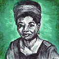 Portrait Of Maya Angelou by Sophia Sieber