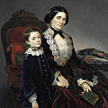 Portrait Of Mother And Son by Bartolomeo Giuliano