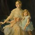 Portrait Of Mrs Claude  by Philip Alexius