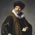 Portrait Of Nicolaes Ruts by Rembrandt