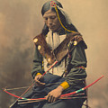 Portrait Of Oglala Sioux Council Chief Bone Necklace by American School