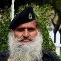Portrait Of Pakistani Security Guard With Flowing White Beard Karachi Pakistan by Imran Ahmed
