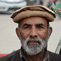 Portrait Of Pathan Tuk Tuk Rickshaw Driver Peshawar Pakistan by Imran Ahmed