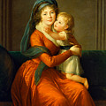 Portrait Of Princess Alexandra Golitsyna And Her Son Piotr by Louise Elisabeth Vigee Le Brun