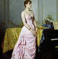 Portrait Of Rose Caron by Auguste Toulmouche
