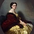 Portrait Of Sophia Petrovna Naryshkina Franz Xavier Winterhalter by Eloisa Mannion