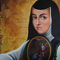 Portrait Of Sor Juana Ines De La Cruz by Alex Loza