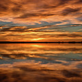 Portrait Of Sunrise Reflections On The Great Plains by Tony Hake