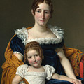 Portrait Of The Countess Vilain Xiiii And Her Daughter Louise by Jacques-Louis David