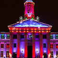 Portrait Of The Denver City And County Building During The Holidays by Tony Hake