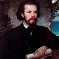 Portrait Of The Singer Karl Wallenreiter by Bocklin Arnold