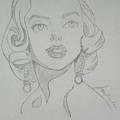 Portrait Of The Tragic Marilyn Monroe, In Graphite by Jonathan Le
