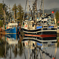 Portrait Of The Ucluelet Trawlers by Adam Jewell