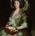 Portrait Senior Sean Bermudes Portrait Of Maria De Borbon Luisy by Francisco Goya