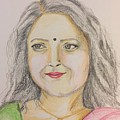 Portrait With Colorpencils 2 by Brindha Naveen