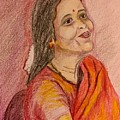 Portrait With Colorpencils by Brindha Naveen