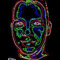 Portrait 09 On Black by John Vincent Palozzi