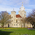 Portsmouth Cathedral In Springtime by Terri Waters