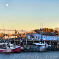 Portsmouth Moon Rise by Heather Applegate