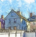 Portsmouth New Hampshire Pencil by Edward Fielding