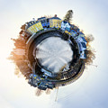 Portsmouth Tiny Planet by Heather Applegate