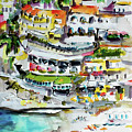 Positano Beach Amalfi Coast Holiday by Ginette Callaway