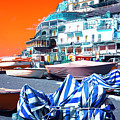 Positano Beach Pop Art by John Rizzuto