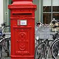 Post Box In Bruge by Glyn Picton