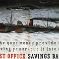 Post Office Savings Bank - Steamliner - Retro Travel Poster - Vintage Poster by Studio Grafiikka