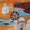 Postcard From Santorini by Maria Woithofer