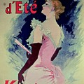 Poster Advertising Alcazar Dete Starring Kanjarowa  by Jules Cheret
