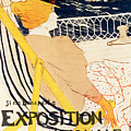 Poster Advertising The Exposition Internationale Daffiches Paris by Henri de Toulouse-Lautrec