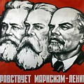 Poster Depicting Karl Marx Friedrich Engels And Lenin by Unknown