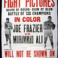 Poster For The First Joe Frazier Vs by Everett