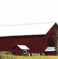 Poster Look American Red Barn With Silos I Niles Michigan Usa by Sally Rockefeller