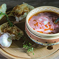 Pot Of Ukrainian Borsch by Nataly Raikhel