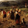 Potato Harvest by Ludwig Knaus