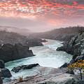 Potomac River At Great Falls Sunrise Landscape by Mark VanDyke