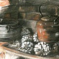 Pots Of A Fireplace by Olena Henry