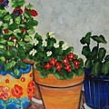 Pots Showing Off by Laurie Morgan