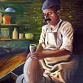 Potter At Work by George Markiewicz