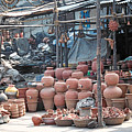 Pottery Shop In India by Diana Davenport