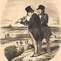 Pour Une Belle Vue, V'la Une Belle Vue!... by Honor? Daumier