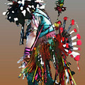 Pow Wow Dancer by Linda  Parker