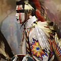 Pow Wow First Nation Dancer by Bob Christopher