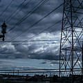 Los Angeles Power Grid At Dusk by Ralph King