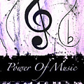 Power Of Music Purple by Wayne Cantrell