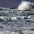 Powerful Waves Crash Ashore by John Trax