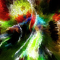 Powwow Dancer Abstract by Vivian Christopher