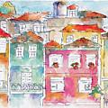 Praca Da Ribeira Porto by Pat Katz